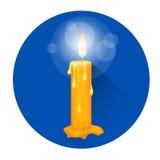 Brinnande symbol för ferie för stearinljusreligionallhelgonaafton vektor illustrationer