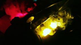 Brinnande ugn med manometern lager videofilmer