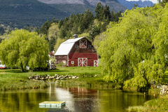 Brinnon Washington Barn by Pond Stock Images