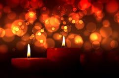 Brinns stearinljus Fotografering för Bildbyråer