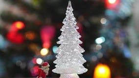 Brinque a árvore de Natal no fundo real da celebração da árvore de Natal filme
