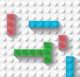 Brinque blocos de apartamentos Imagens de Stock