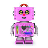 Brinque a menina do robô que sorri na câmera Foto de Stock