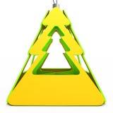 Brinquedo abstrato da árvore de Natal ilustração 3D Imagens de Stock Royalty Free