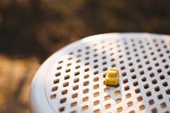 Brinquedo amarelo do carro Foto de Stock Royalty Free