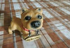 Brinquedo bonito do filhote de cachorro imagens de stock