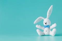 Brinquedo branco bonito do coelho Imagens de Stock Royalty Free