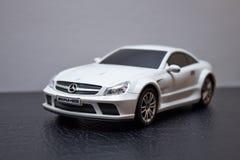 Brinquedo branco Mercedes-Benz AMG SL 65 Fotografia de Stock Royalty Free