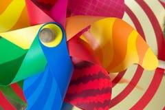 Brinquedo colorido clássico do moinho de vento Imagem de Stock Royalty Free