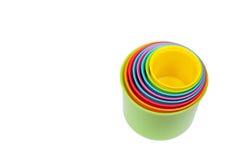 Brinquedo colorido do classificador da forma isolado fotos de stock royalty free