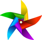 Brinquedo colorido do moinho de vento Foto de Stock Royalty Free