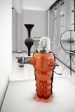 Brinquedo 3d do robô do vintage do ferro ilustrado ilustração royalty free