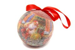 Brinquedo da árvore de Natal da bola de Santa Claus Imagens de Stock