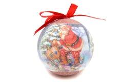 Brinquedo da árvore de Natal da bola de Santa Claus Imagem de Stock