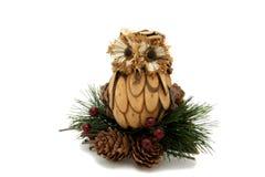 Brinquedo da árvore de Natal da coruja Fotos de Stock