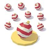 Brinquedo da bola do Natal de Lowpoly Fotos de Stock Royalty Free