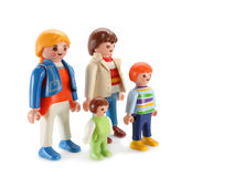 Brinquedo da família imagem de stock