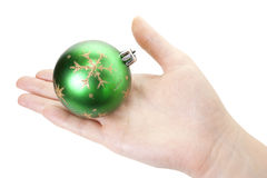 Brinquedo da mão e do Natal Imagem de Stock Royalty Free