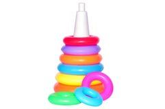 Brinquedo da pirâmide das crianças isolado no branco Imagem de Stock Royalty Free