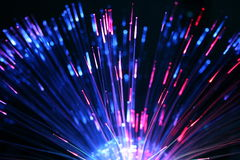 Brinquedo das fibras ópticas Fotografia de Stock