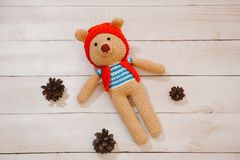 Brinquedo de Amigurumi TeddyBear Fotografia de Stock