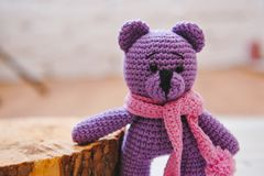 Brinquedo de Amigurumi TeddyBear Foto de Stock