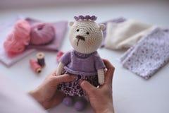 Brinquedo de Amigurumi TeddyBear Imagem de Stock Royalty Free