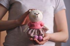 Brinquedo de Amigurumi TeddyBear Imagens de Stock Royalty Free