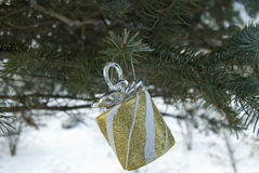 Brinquedo de Cristmas na árvore Fotografia de Stock Royalty Free