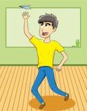 Brinquedo de jogo do avião de papel do estudante Imagem de Stock