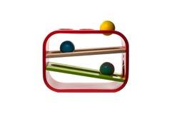 Brinquedo de madeira colorido da forma Fotografia de Stock