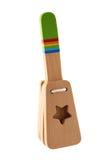 Brinquedo de madeira colorido isolado no branco Imagens de Stock Royalty Free