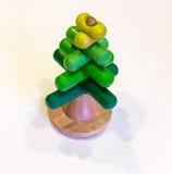 Brinquedo de madeira colorido no branco Imagem de Stock Royalty Free