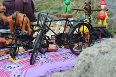 Brinquedo de madeira da bicicleta Foto de Stock