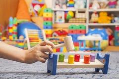 Brinquedo de madeira da cor Imagens de Stock Royalty Free