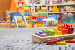 Brinquedo de madeira da cor Imagem de Stock