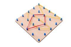 Brinquedo de madeira da lógica Brinquedos da faculdade criadora O conceito do pensamento lógico imagem de stock