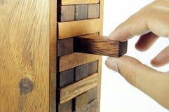 Brinquedo de madeira do bloco Foto de Stock Royalty Free