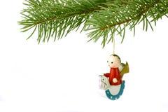 Brinquedo de madeira do Natal fotografia de stock royalty free