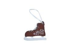 Brinquedo de madeira do Natal - figura patins Imagens de Stock