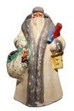 Brinquedo de Papai Noel do Papel-mache (com saco e cesta) Imagens de Stock