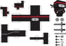 Brinquedo de papel customizável de Ninja ilustração royalty free