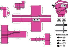 Brinquedo de papel customizável de Ninja Fotografia de Stock