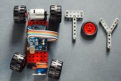 Brinquedo diy educacional para adultos, eletrônica imagens de stock