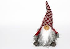 Brinquedo do anão em um fundo branco Fotografia de Stock