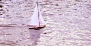 Brinquedo do barco Fotografia de Stock Royalty Free