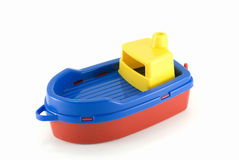 Brinquedo do barco plástico Fotos de Stock Royalty Free