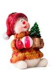 Brinquedo do bebê de Santa do Natal com presentes Imagens de Stock Royalty Free