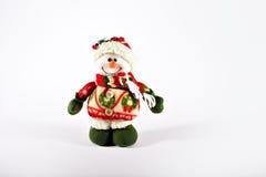 Brinquedo do boneco de neve isolado no fundo branco Fotos de Stock