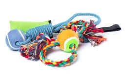 Brinquedo do cão no branco fotos de stock royalty free